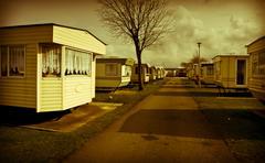 caravan site - stock photo