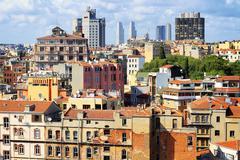 Ilmakuva asuntojen esikaupunkialueella beyoglu Galata alueella Istanbulissa Kuvituskuvat