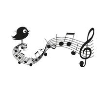 Singing bird Stock Illustration