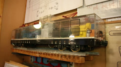Learning the layout of the train. Visual aid. The rails. - stock footage