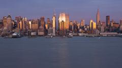 New York City Skyline day to night Stock Footage