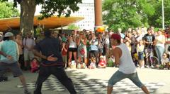 London Break Dance Summer - SlowMo Stock Footage