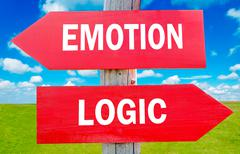 Emotion and logic Stock Photos