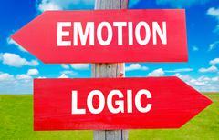emotion and logic - stock photo