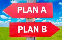 Plan a or plan b Stock Photos