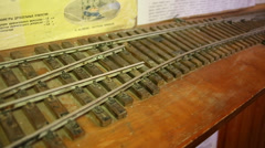 Model railroad rails and sleepers. Stock Footage