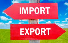 import or export - stock photo