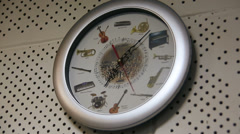 Clock with musical dial Stock Footage