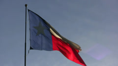 Texas Flag Glowing In Sun Stock Footage