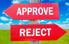 approve and reject - stock photo