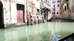 Architecture of buildings from the canal of venice Stock Footage