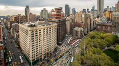 Flatiron District NYC Stock Footage