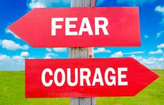 fear and courage - stock photo