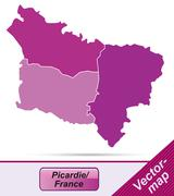 Stock Illustration of map of picardie
