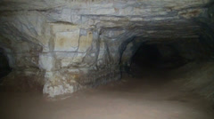 The underground cave. Tunnels and arches Stock Footage