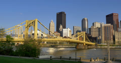 4K Pittsburgh City Establishing Shot 4312 Stock Footage