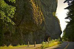Oregon scenic by way. oregon state amazing nature. columbia river gorge. famo Stock Photos