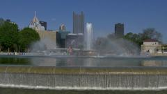4K Pittsburgh Fountain at The Point 4292 Stock Footage