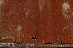 rusty dirty corroded metal background - corroded burned red metal photo backg - stock photo