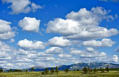 Wyoming wilderness. sky above yellowstone national park in wyoming, usa. part Stock Photos