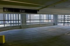 Parking space - multilevel public parking in the heart of chicago, il, usa. u Stock Photos