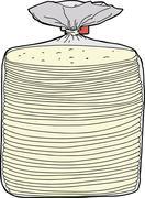 Bread in plastic wrap Stock Illustration