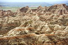 badlands scenery, south dakota usa. badlands national park. nature photo coll - stock photo