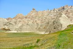 badlands sandstones landscape. badlands national park - south dakota, usa. ba - stock photo