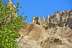 Badlands formations - badlands national park in south dakota, usa. beautiful Stock Photos
