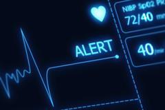 Ekg alert illustration - no pulse alert. health care illustration collection. Stock Illustration