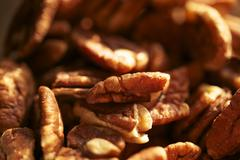 pecans nuts closeup photo. organic pecans - stock photo