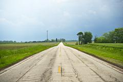 somewhere in illinois - illinois outback. country road. usa - stock photo