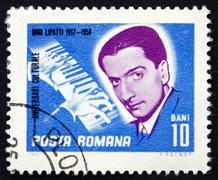 Postage stamp Romania 1967 Dinu Lipatti, Pianist Stock Photos