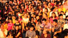 Unidentified people participate in Asia Stock Footage