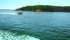 HD Speed Boat Passing By Fast - stock footage