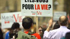 Pro Life Anti Abortion Protestors 2 - stock footage