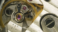 Vintage Mechanical Watch Movement 4K UHD Stock Footage