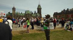 Pro Life Anti Abortion Protestors 3 - stock footage