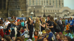 Pro Life Anti Abortion Protestors - Young People Demanding Change Stock Footage