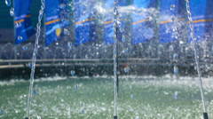 Small fountain, water jets close-up - stock footage