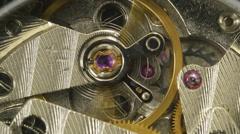 Watch Mechanism Closeup 4k UHD Stock Footage