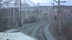 Railway track. The rails. Stock Footage