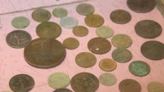 The legacy of Soviet and Russian money. Coins. Stock Footage