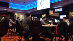 Blackjack game being played at a casino Stock Footage