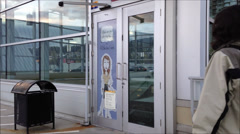 Door of mall entrance Stock Footage