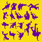 Break Dance Vector  - stock illustration