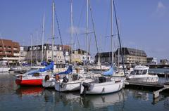 Port of Courseulles sur Mer in France Stock Photos