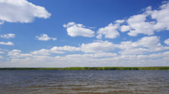 Summer lake landscape, time-lapse. - stock footage