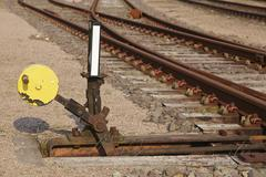 railway switch - symbolizes a decision - stock photo