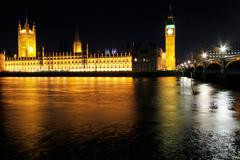 Parliamentary buildings night Stock Photos